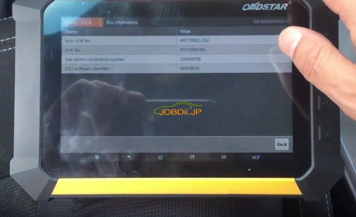 obdstar-x300-dp-review-diagnose-kia-sportage-engine-airbag-6