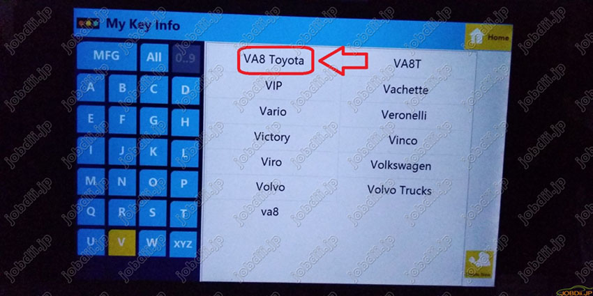 sec-e9z-create-new-key-for-va8-toyota-21
